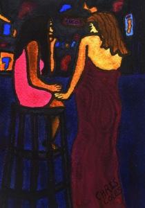 """""""Two Girls at Walkabout Bar, Phnom Penh"""""""