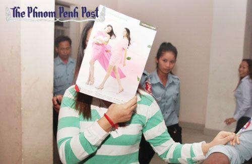 Keam Piseth Narita at her sentencing  (Phnom Penh Post)