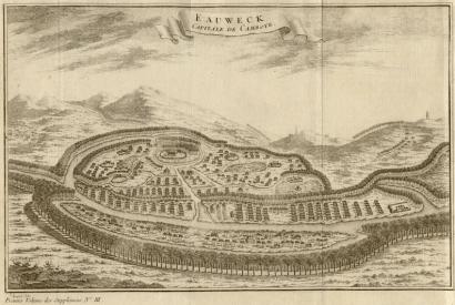 Longvek (or Lovek, or many other spellings - this one seems to be Eauwek) in its heyday.